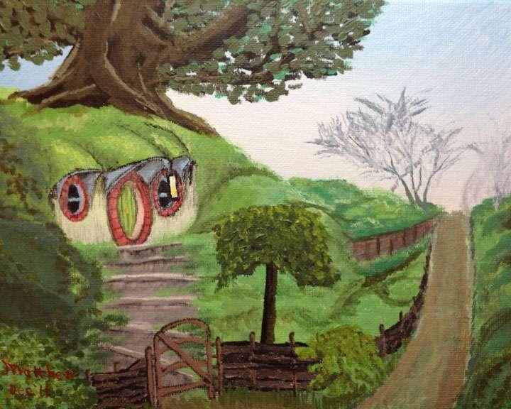 Bilbo's House (The Hobbit) in Acrylic