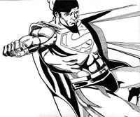 Superman in Pen & Ink