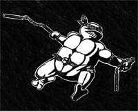 Teenage Mutant Ninja Turtle in Pen & Ink