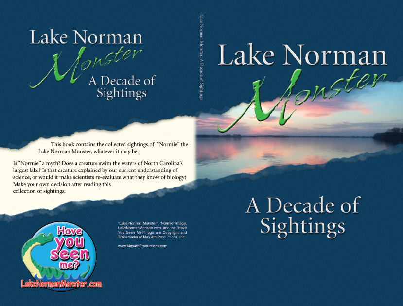 Book cover design for Lake Norman Monster: A Decade of Sightings