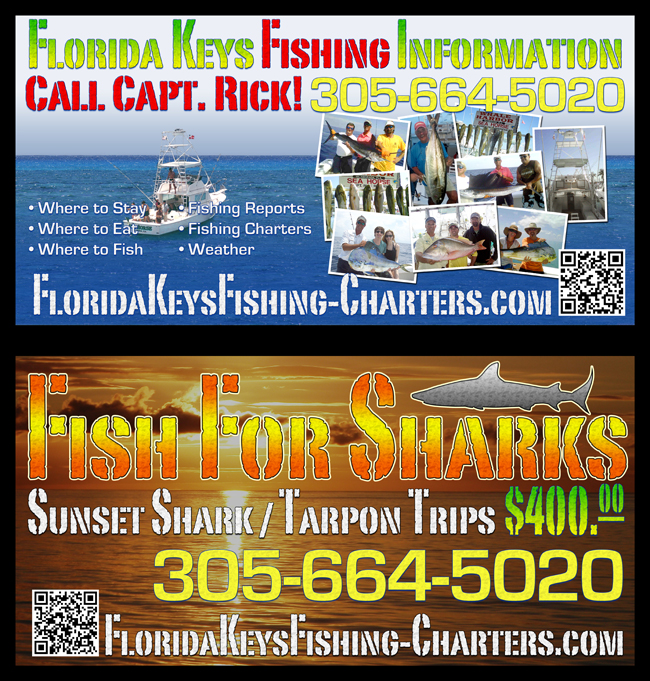 Large, Metal Boardwalk Signs for Florida Keys Fishing Guide