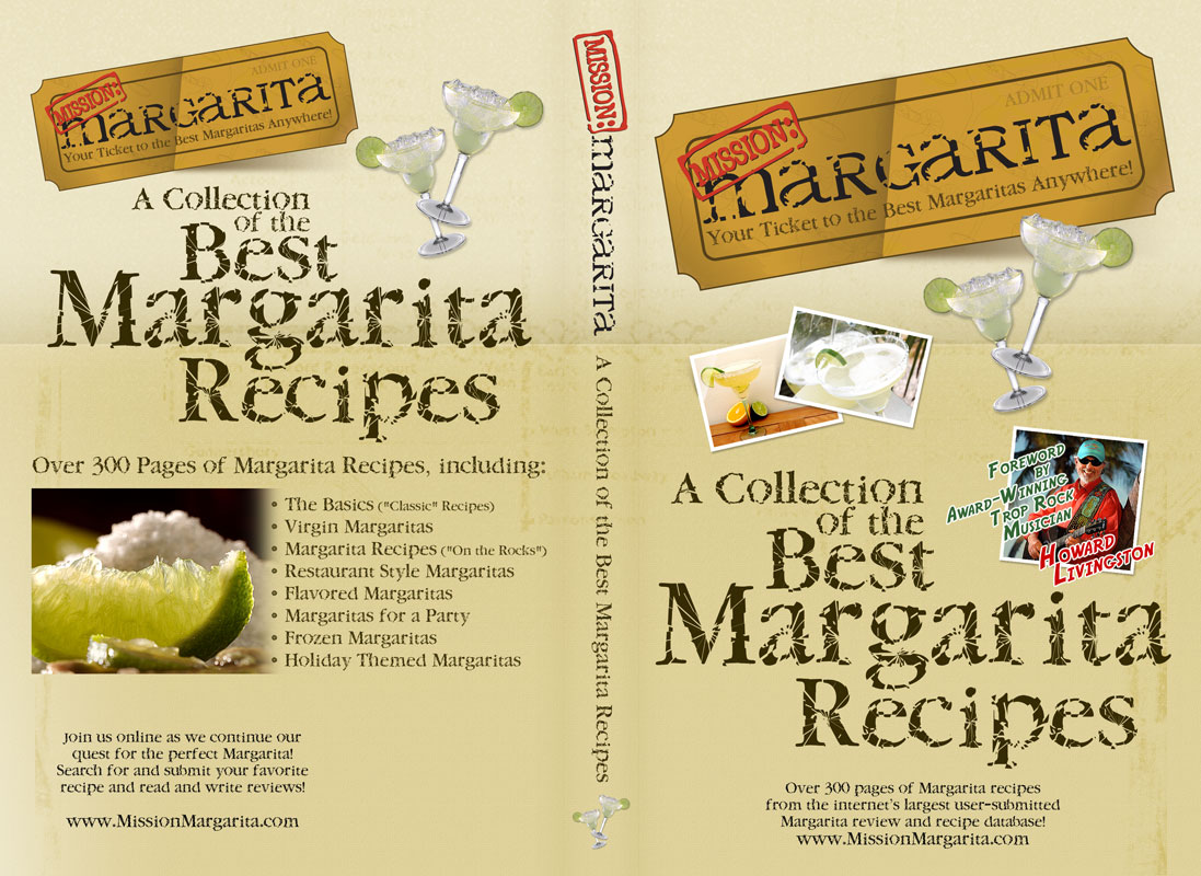 Book cover design for Margarita Recipe Book