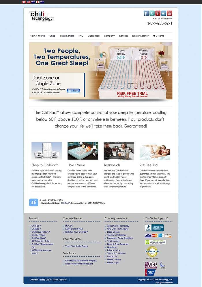 2013 e-commerce site for Chili Technology