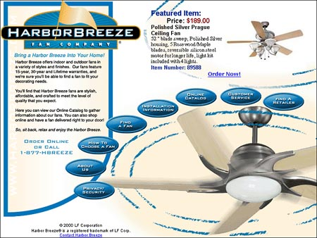 2002 Harbor Breeze Brand Site for Lowe's
