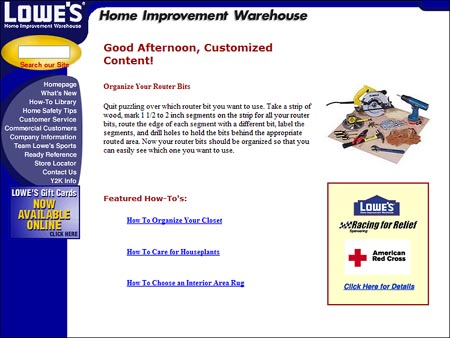 1998 Site for Lowe's