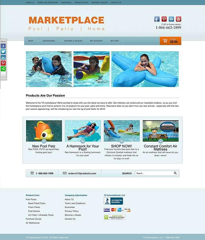 2013 e-commerce site for T2 Marketplace