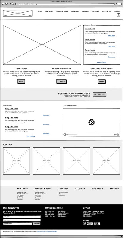 Church Homepage Redesign