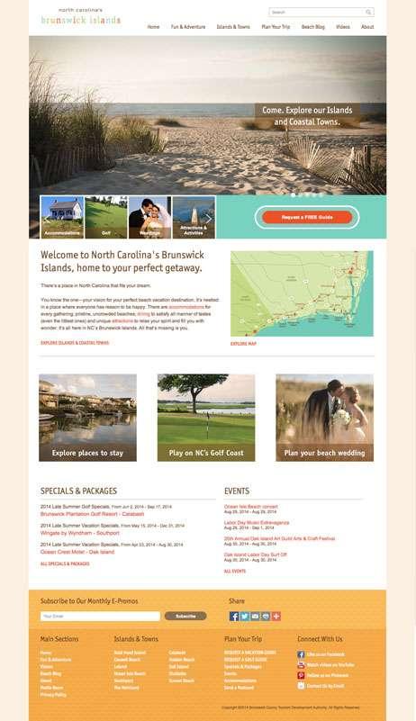 NC's Brunswick Islands - Homepage Version 1
