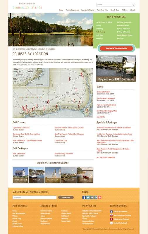 NC's Brunswick Islands - Golf Locator