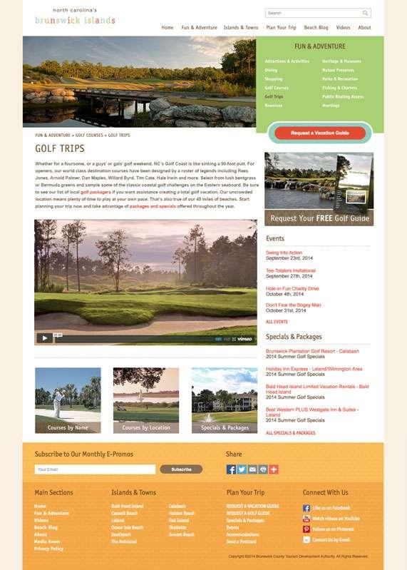 NC's Brunswick Islands - Golf Trips Page
